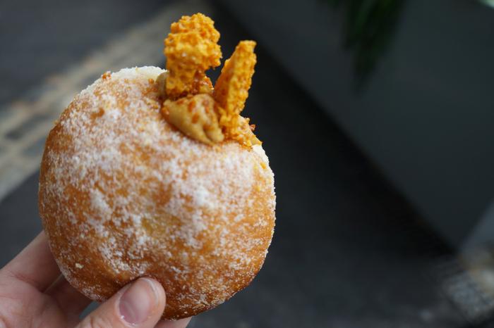 Bread Ahead doughnut, Borough Market London