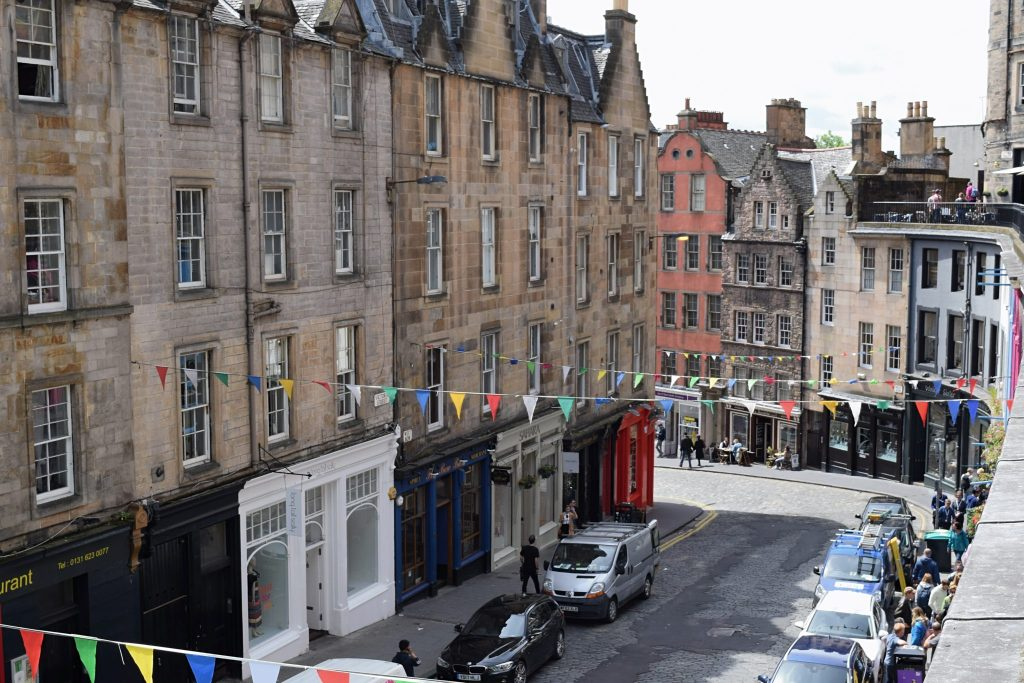 Edinburgh Victoria Street from Above