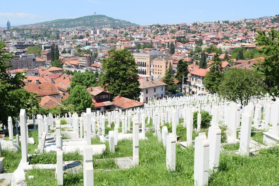 Cemetary Sarajevo Bosnia