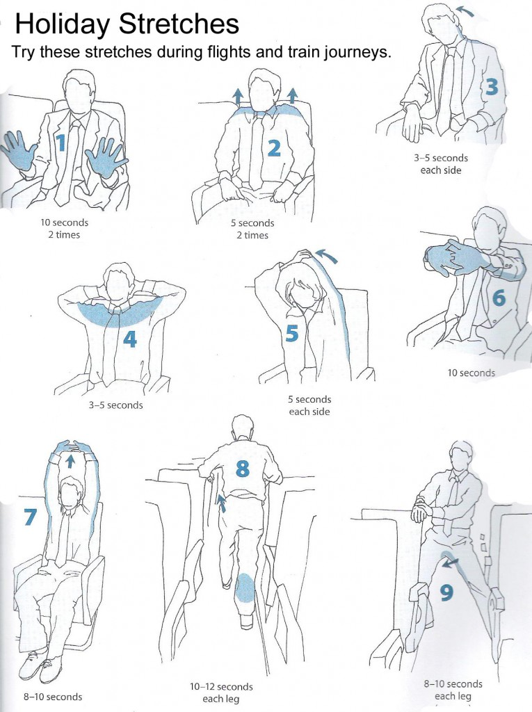 Stretches to do on flights
