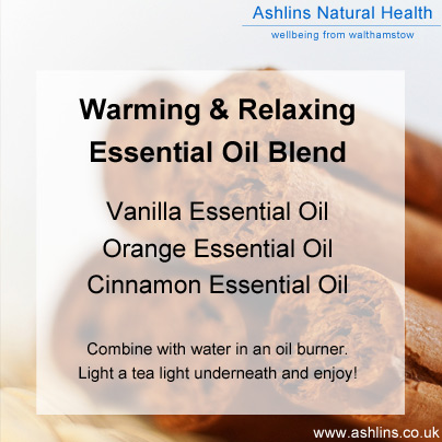 Warming and relaxing essential oil blend for December.