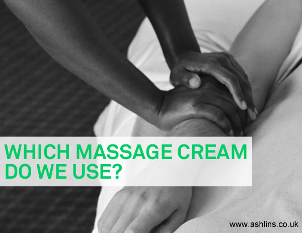Which massage cream do our therapists use?