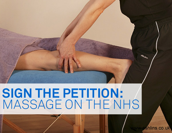 Massage on the NHS, sign the petition