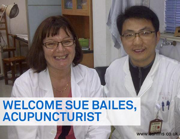 Sue Bailes, Acupuncturist Joins Ashlins
