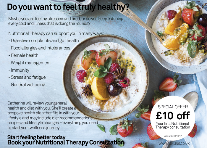 £10 off nutrition consultation in Walthamstow