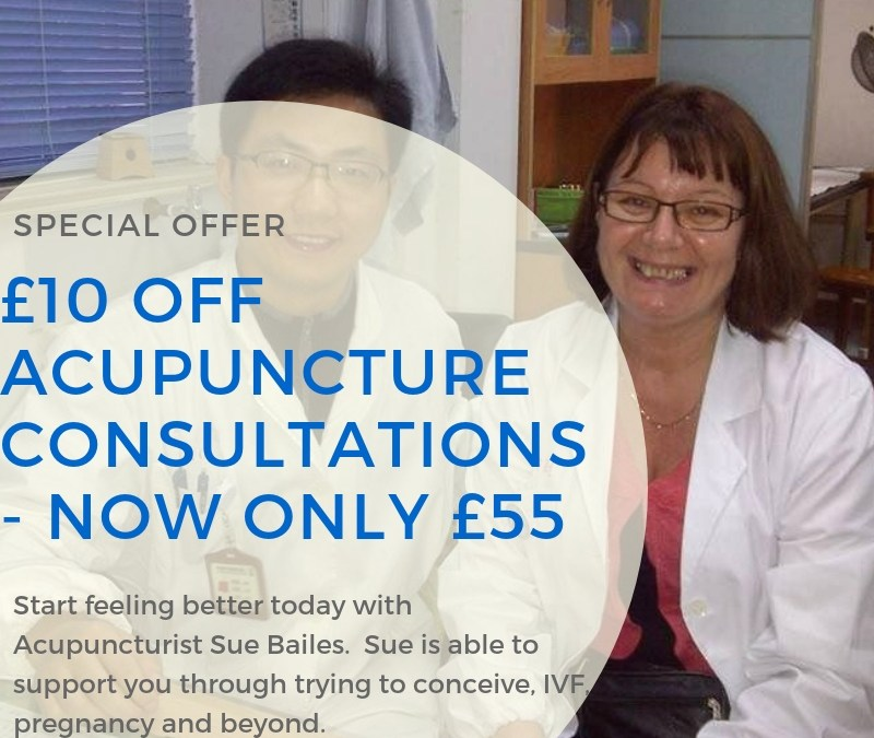 £10 off your Acupuncture Consultation with Sue Bailes