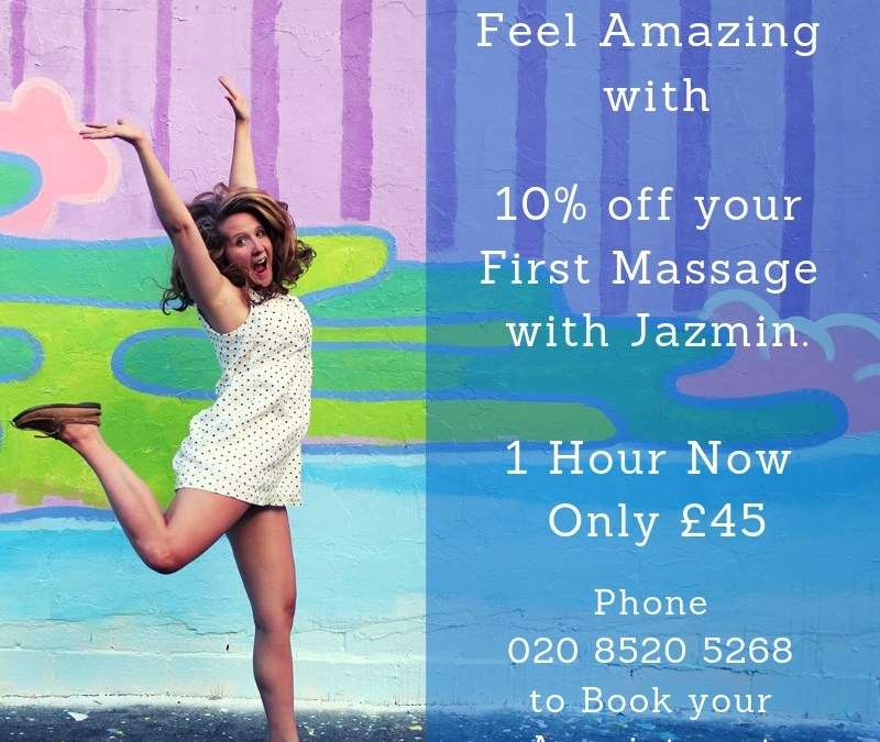 Special Introductory Offer – Save 10% on Massage with Jazmin