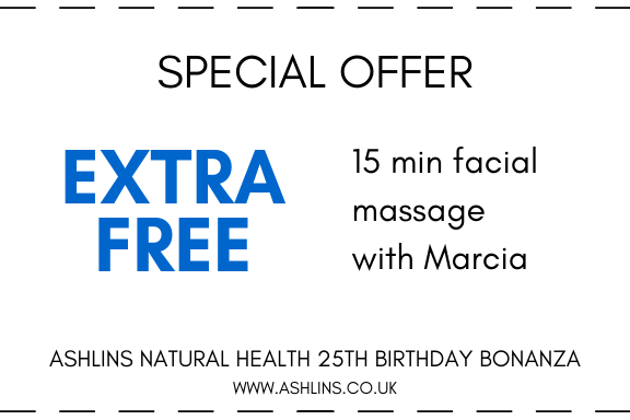 extra free 15min facial with Marcia