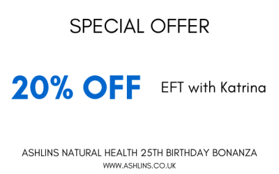 OFFER: 20% off EFT with Katrina 10th-23rd June 2019