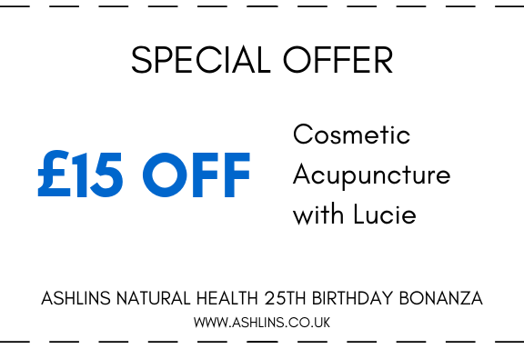OFFER: £15 off Cosmetic Acupuncture with Lucie, 3rd-16th June 2019