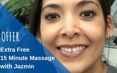 SPECIAL OFFER:  Extra free 15 mins Massage with Jazmin for National Massage Day