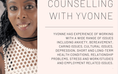 Person-Centred Counselling Now Available with Yvonne
