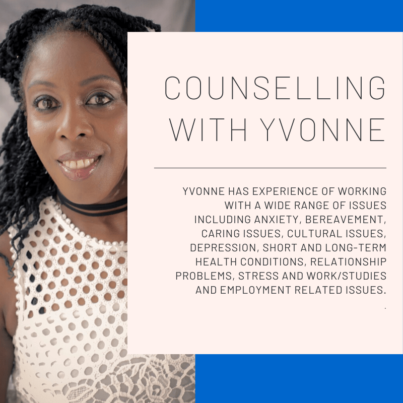 Counselling for anxiety and depression with Yvonne Henry in Walthamstow