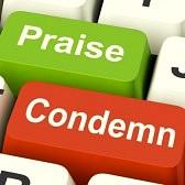 26065890-condemn-praise-keys-meaning-appreciate-or-blame