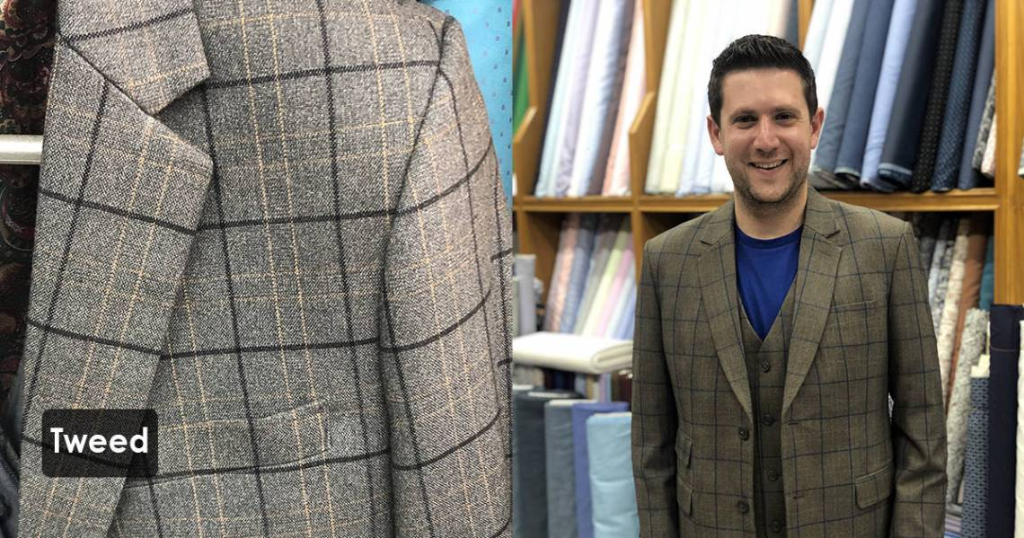 Tweed is a rough, woolen fabric