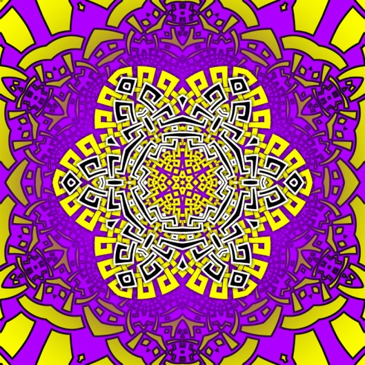 psychedelic mandala graphic