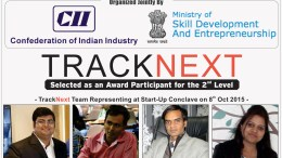 "TrackNext has Qualified for 2nd Round of ""CII Industrial Innovation Awards 2015"", Organized Jointly by ‪#‎CII‬ and Ministry of Skill Development & ‪#‎Entrepreneurship‬, Govt. of India, on 8th October, at Hotel Le Meridian, New Delhi."