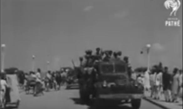 निजामाची शरणागती आणि त्या नंतर भारतीय सैन्याचे संचलन व्हिडीओ 1