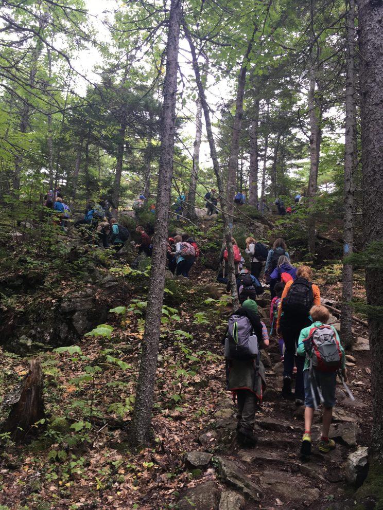 Along the trail to Mt. Battie.