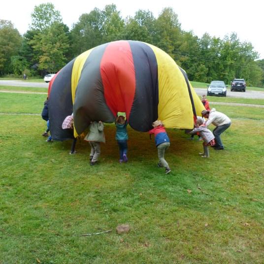More parachute play.