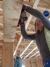 Class 6-7 at Habitat for Humanity worksite