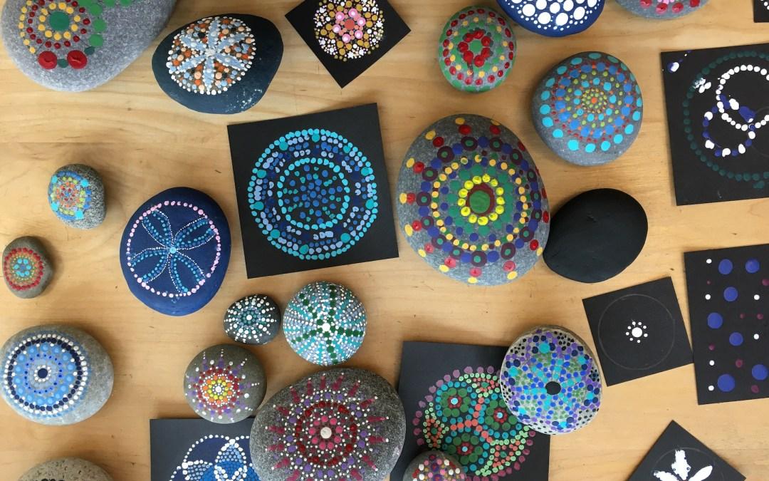 Upper Grade Students Paint Dot Mandalas
