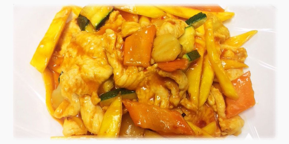 Spicy Mango Chicken in Asia Grill Peoria IL