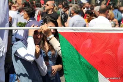 Bandiera palestinese. Foto Alessio Fratticcioli