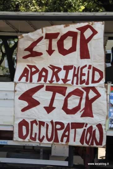 Ferma l'Apartheid. Foto Alessio Fratticcioli