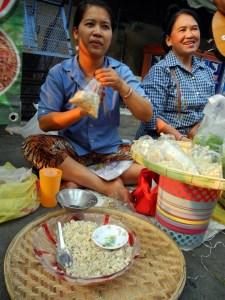 uova di formica in vendita al mercato