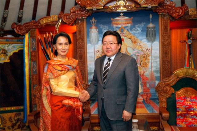 mongolia Tsakhiagiin Elbegdorj aung san suu kyi