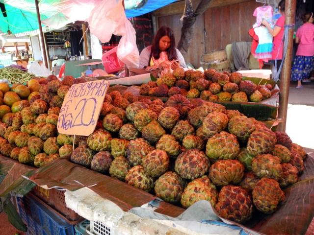 noinaa thailandia frutta mercato foto