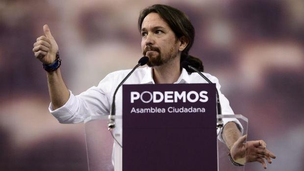 Pablo Iglesias, 37 anni, leader di Podemos.