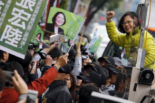 La signora TsaiIng-wen, prima donna eletta Presidente della Repubblica di Cina, meglio conosciuta come Taiwan.