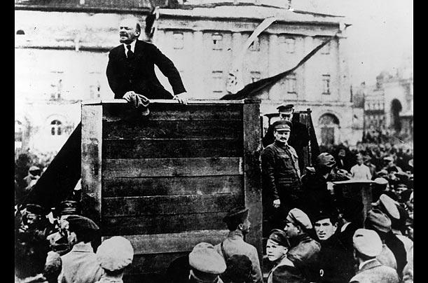 Fotografia del discorso di Lenin - originale