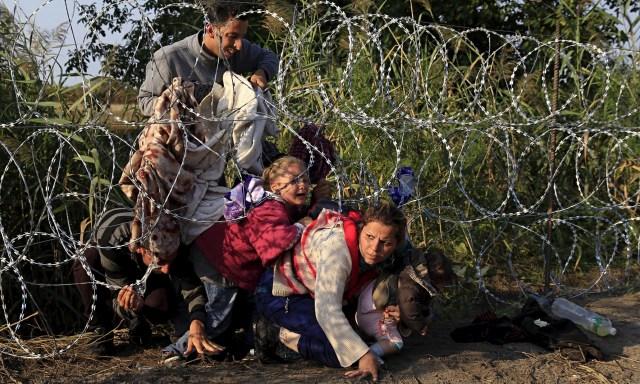 Giornata Mondiale del Rifugiato profughi ungheria confine filo spinato