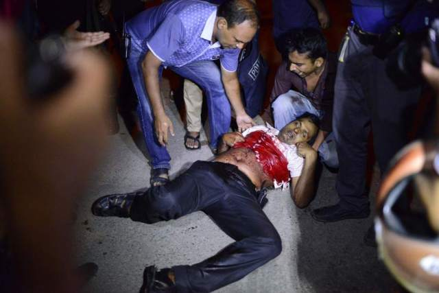 Bangladesh attack restaurant blood