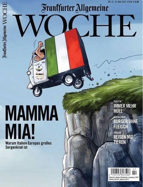 La vignetta apparsa sulla copertina dell'inserto settimanale del Frankfurter Allgemeine Zeitung.