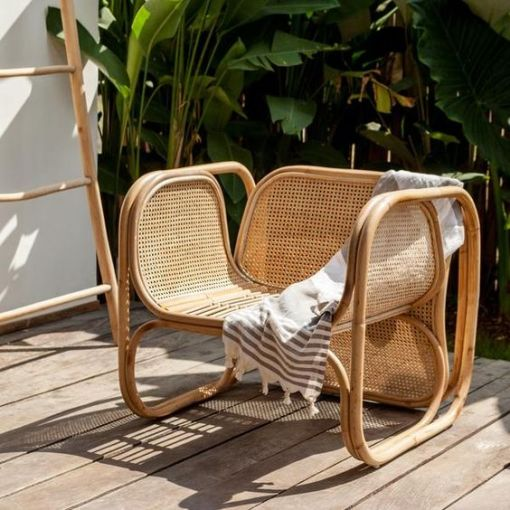Dining Chair Natural Rattan