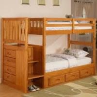 Tempat Tidur Tingkat Jati Queen Minimalis