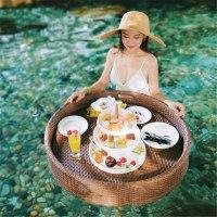 Floating Breakfast Tray Rotan Sintetis