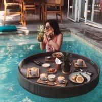Floating Tray Rotan Breakfast