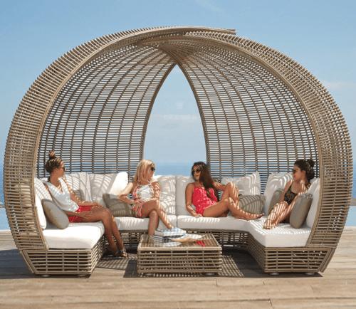 Sofa Santai Daybed Rattan Furniture