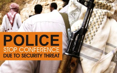 POLICE STOP CONFERENCE FROM TAKING PLACE