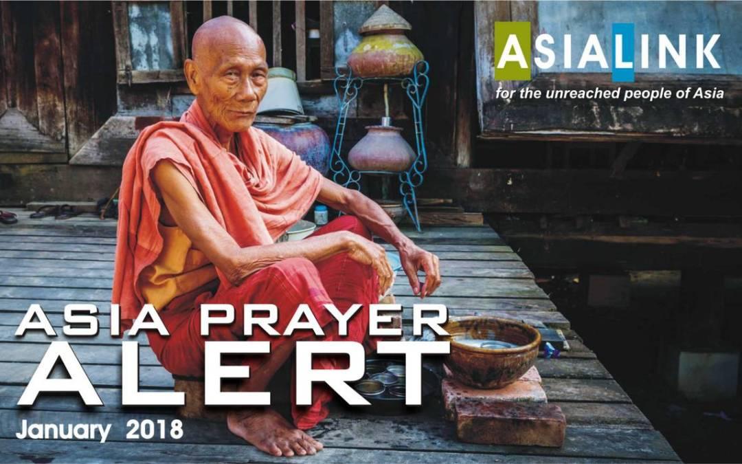 Monthly Prayer Alerts – January 2018