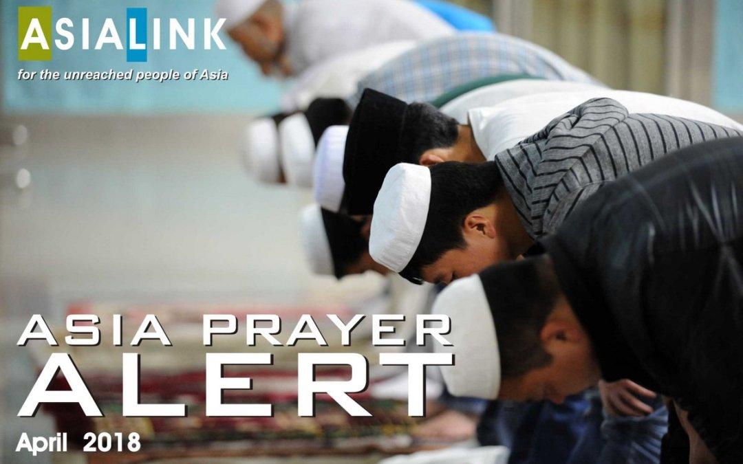Monthly Prayer Alerts – April 2018