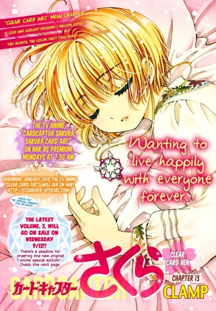 Cardcaptor Sakura: Clear Card Arc Chapter 6 Cover