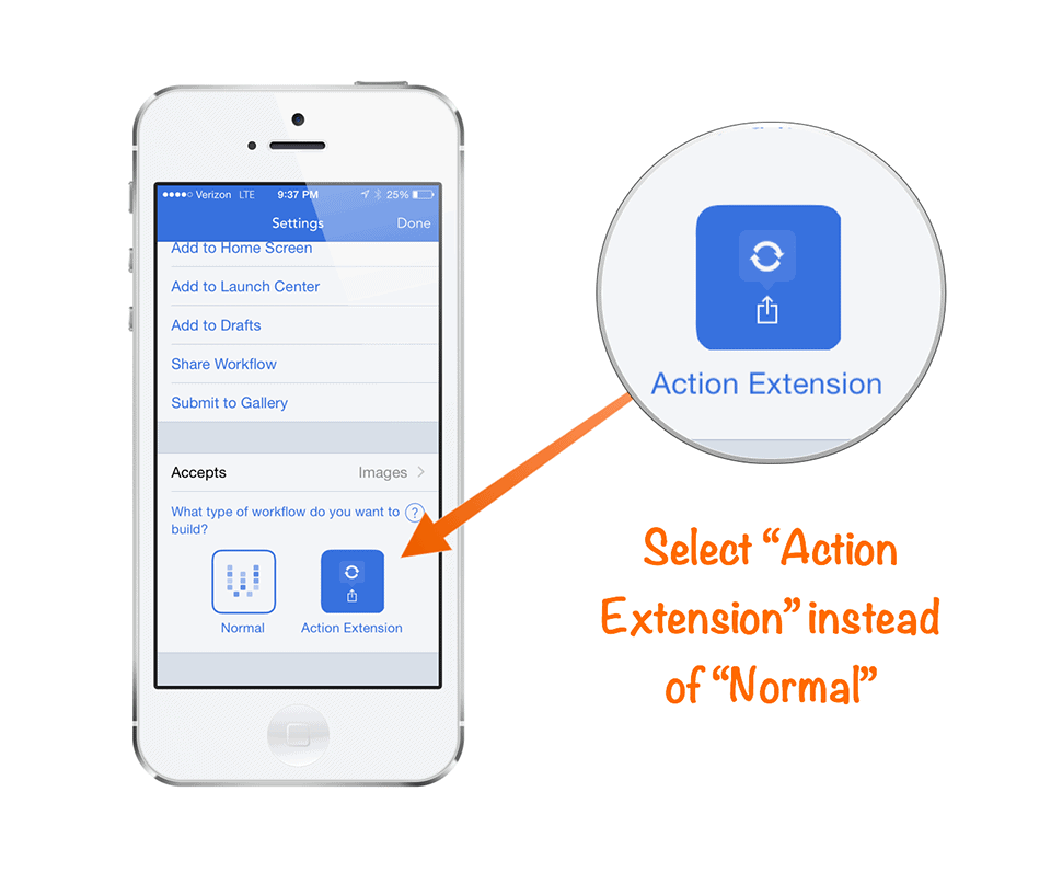 Action Extensions in Workflow