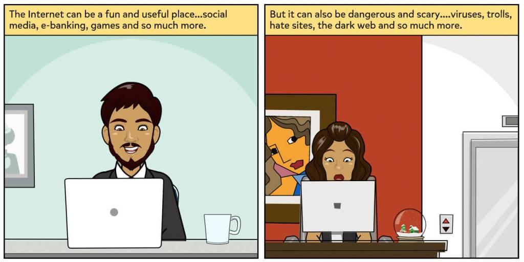 Comics on Internet safety