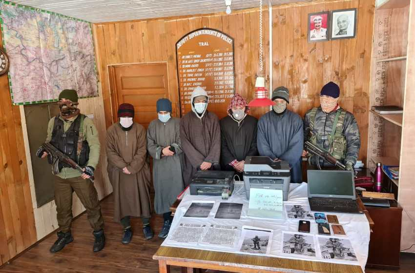 05 persons arrested for pasting threat posters in Awantipora: Police
